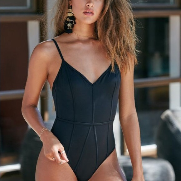 2629b061be SEXY One Piece PacSun Black Swimsuit NWT